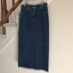 Vintage LRL denim skirt midi length size 12